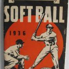 1936 Official Rules Soft Ball Louisville Slugger Hillerich & Bradsby Co H&B Bats Hickory Ash