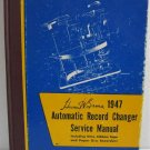 Howard W Sams 1948 Automatic Record Changer Service Manual Wire Ribbon Tape Paper Disc Recorders
