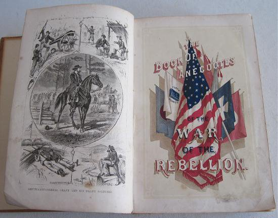 1866 Anecdotes War of the Rebellion Civil War by Kirkland Illustrated Women�s Role First Edition