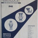 Abingdon Art Pottery 1942 Catalogue No.35 Vases Cookie Jars Flower Pots Bowls Figures Glazes