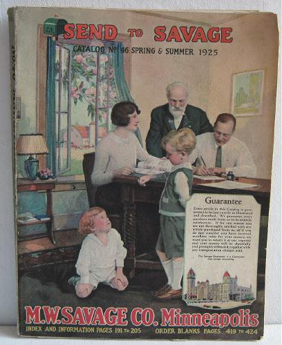 MW Savage Co Catalog No.46 Spring Summer 1925 AS IS Furniture Linens Kitchenware Tools Toys