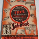1933 January and February Sale Book Catalog MW Savage Co Groceries Shoes Apparel General Merchandise