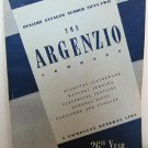 1951 Argenzio Co Dealers Catalog No.52 Fine Rhinestone Jewelry Furniture Silver Giftware Watches