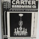 1941 Carter Hardware Co Lighting Fixtures Catalog No.16 Ceiling Hanging Glass Shades Chandeliers