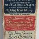 1928 NY Directory Mens Clothing Manufacturers Haberdashers Apparel Robes Ties Hats Smoking Jackets