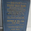 Davison's Textile Blue Book c.1925 Directory Textiles Supplies Dyes Machinery Thread Yarn