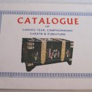 Catalog Carved Teak Camphorwood Chests Furniture Inlaid Handsome Handicraft Factory Kowloon Chinese