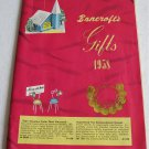 Bancroft's Gifts 1958 Illustrated Catalog Novelties Housewares Kitchenware Grooming Supplies Toys