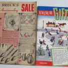 Brecks of Boston 1954 Christmas Catalog plus 1961 Sale Catalogue Novelties Gifts Housewares Kitchen