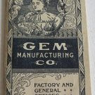 1900 Gem Manufacturing Co Embroidery Machine Catalog Patterns Needle Frame Needlework Textiles