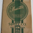 Thurston Materials Supply Co 1936 - 1937 Catalog Furniture Hardware Inlay Decals Casters Moldings
