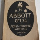 AH Abbott & Co Artists' Material Drawing Materials and School Supplies Catalogue No. 166