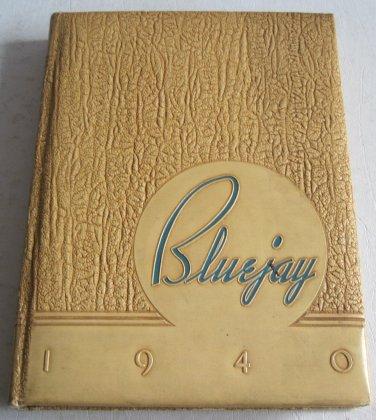 1940 Bluejay Creighton University Omaha Nebraska College Yearbook Robert Cary Color Cartoons