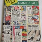 Wards Summer Sale Catalog c.1934 General Merchandise Apparel Kitchenware Housewares Furniture