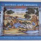 Biordi Art Imports Italy 2001 - 2002 Catalog Maiolica Majolica Handpainted Dinnerware Vases Jars