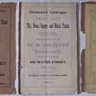 1891 Illustrated Catalogue WH Sweeney Mfg Co Tin Brass Copper Nickel Plated Kitchen Housewares