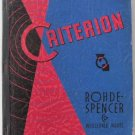 1940 Criterion Rohde-Spencer Wholesale Catalog General Merchandise Furniture Jewelry Kitsch