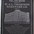 1937-1938 WAL Thompson Hardware Co Catalog Appliances Sporting Goods Tools Radios 168p