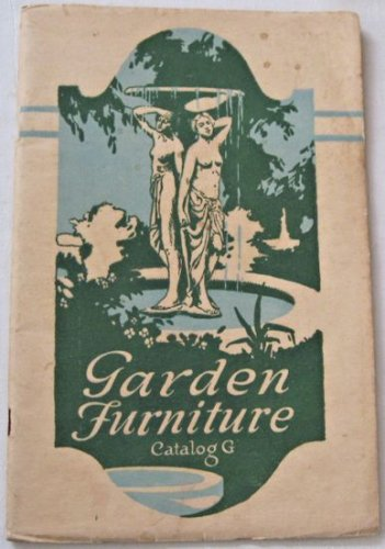 Garden Furniture Catalog G Architectural Decorating Co ca 1920 Art Stone Benches Fountains Vases 46p