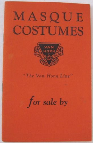 1920's Masque Costumes the Van Horn Line Plays Pageants Halloween Carnivals