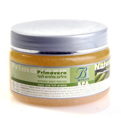 Natural Body Peeling -  Dead Sea Mineral Salt Pure Minerals & Vitamin - Vanilla & Musk Secnt