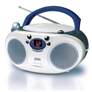 JWIN JXCD-404D PORTABLE BOOM BOX WITH CD PLAYER AND AM & FM RADIO