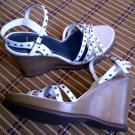 Whites Mt Leather Platform Wedge Sandals Heels Shoes 10