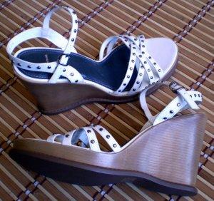 Whites Mt Leather Platform Wedge Sandals Heels Shoes 10