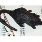 Set of 6 Black Rat/Mouse Erasers