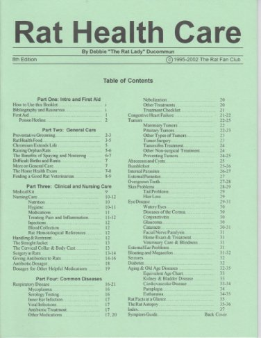 2002 Rat Health Care Booklet