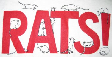 White RATS! Sweatshirt - Size L