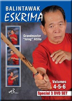 Balintawak Eskrima Grandmaster Ising Atillo Vol 4-6 DVD Set