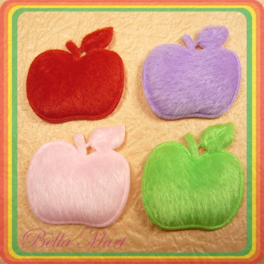 100 Mix Apple Applique Sew/Baby/Cute/Embellishment A033