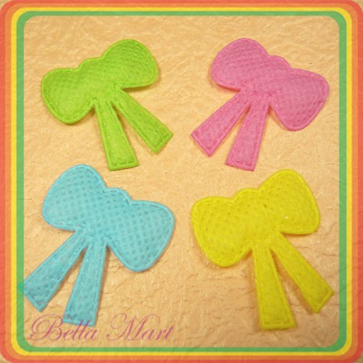 100 Mix Bow Applique Card Making/Cute/Scrapbooking A037