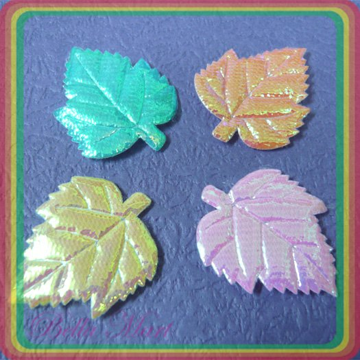 200 Mix Leaf Applique Card/Cloth/Cute/Scrapbooking A038
