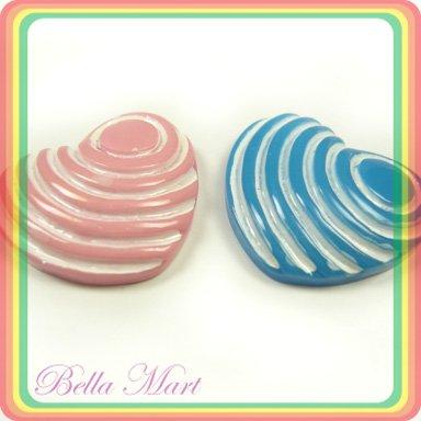 20 Heart Loose Plastic Bead FlatBack Craft/Card F002