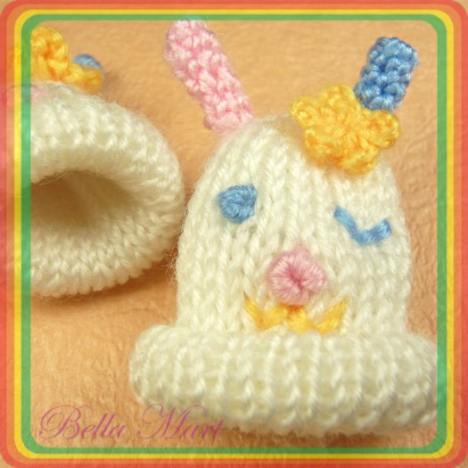 10 Crochet Hat Applique Sew/Doll/Craft/Baby Shower A42