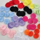 100 pcs Mix Floral Felt/Satin Double Sided Flower