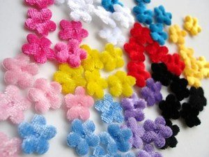 """100pcs Soft Velvet 1/2"""" Small Flower"""