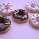 10 pcs Doughnut Sprinkle Resin Flatback