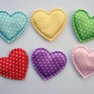 60 Satin Polka Dots Heart Applique
