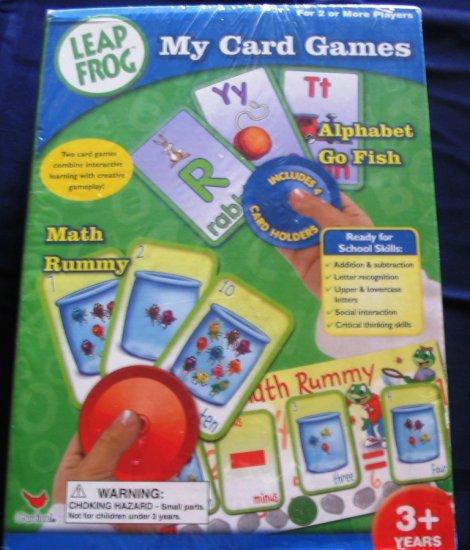 Leap Frog My Card Games Math Rummy & Alphabet Go Fish NIB