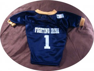 Notre Dame Fighting Irish Deluxe NCAA Team Sports Dog Football Jersey Small Size