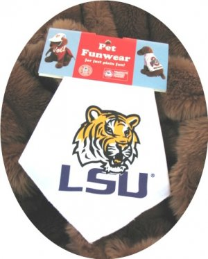 Louisiana State LSU Golden Tiger Dog Bandana Official NCAA Sports Pet Apparel
