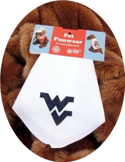 West Virginia Mountaineers WVU Dog Bandana Official NCAA Sports Pet Apparel