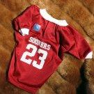 Oklahoma University OU Sooners Deluxe NCAA Team Football Sports Dog Jersey 4X Size