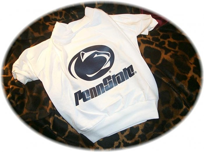 Penn State University PSU Nittany Lions NCAA Football Dog Tee Shirt  Medium Size