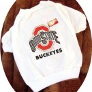 Ohio State University OSU Buckeyes NCAA Football Sports Team Logo Dog Tee Shirt Medium Size
