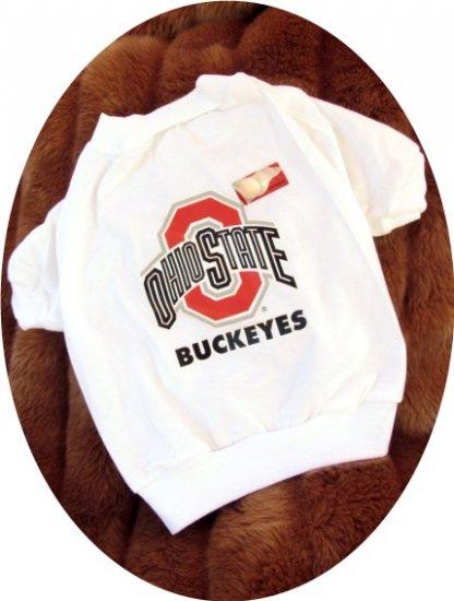 Ohio State University OSU Buckeyes NCAA Football Sports Team Logo Dog Tee Shirt Large Size