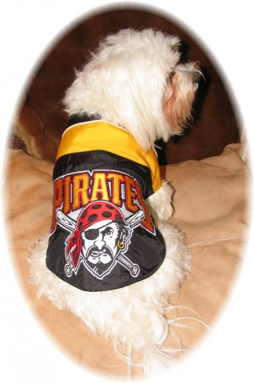 Custom Made Pittsburgh Pirates Dog Coat Small Size